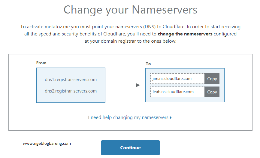 ubah nameserver domain