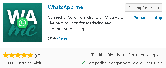 plugin whatsapp me