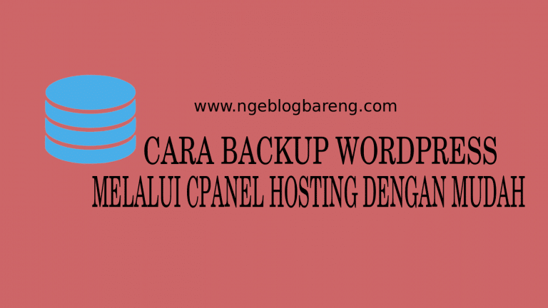 cara backup wordpress manual